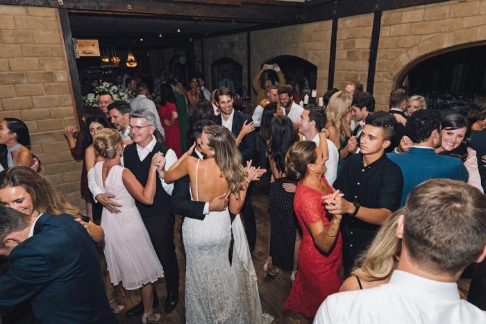 Waiheke wedding DJ dance floor at Mudbrick