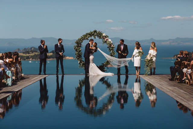 Beautiful Waiheke Wedding Venue infinity pool