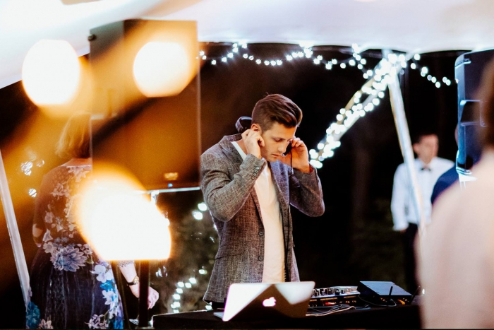 Professional Auckland wedding DJ playing music